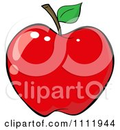 Clipart Red Apple 2 Royalty Free Vector Illustration by Hit Toon