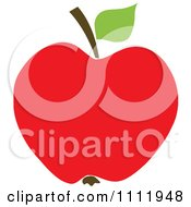 Clipart Red Apple 1 Royalty Free Vector Illustration