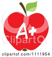 Clipart Red A Plus School Apple 1 Royalty Free Vector Illustration