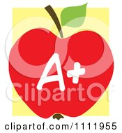 Clipart Red A Plus School Apple 2 Royalty Free Vector Illustration