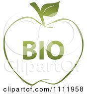 Clipart Green Bio Apple 2 Royalty Free Vector Illustration