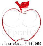 Clipart Red Apple Outline 1 Royalty Free Vector Illustration