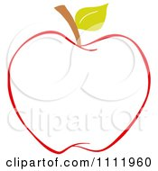 Clipart Red Apple Outline 2 Royalty Free Vector Illustration