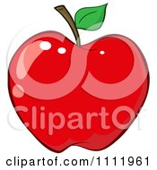 Clipart Red Apple 3 Royalty Free Vector Illustration
