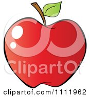 Clipart Red Apple 4 Royalty Free Vector Illustration