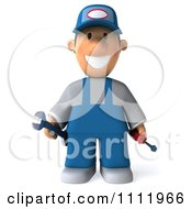 Clipart 3d Mechanic Guy With Tools Royalty Free CGI Illustration