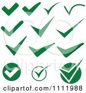 Clipart Green Check Mark Icons 1 Royalty Free Vector Illustration