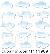 Clipart Puffy Cloud Icons Royalty Free Vector Illustration by dero