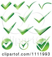 Clipart Green Check Mark Icons 2 Royalty Free Vector Illustration