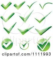 Green Check Mark Icons 2