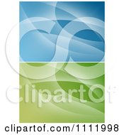 Clipart Abstract Green And Blue Backgrounds Royalty Free Vector Illustration