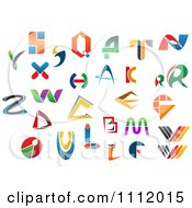 Clipart Abstract Colorful Letters A Through Z 8 Royalty Free Vector Illustration
