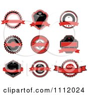 Red Black And White Labels