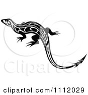Black And White Tribal Lizard 8