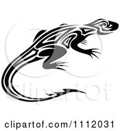 Black And White Tribal Lizard 6