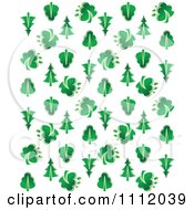 Clipart Seamless Evergreen Tree Background Pattern Over White Royalty Free Vector Illustration by Vector Tradition SM