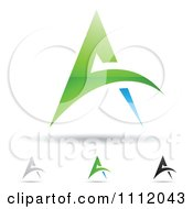 Clipart Abstract Letter A Icons With Shadows 4 Royalty Free Vector Illustration by cidepix