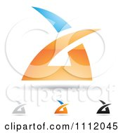 Clipart Abstract Letter A Icons With Shadows 1 Royalty Free Vector Illustration by cidepix