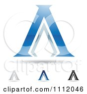 Clipart Abstract Letter A Icons With Shadows 2 Royalty Free Vector Illustration by cidepix