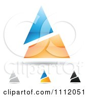 Clipart Abstract Letter A Icons With Shadows 9 Royalty Free Vector Illustration by cidepix