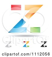 Clipart Abstract Letter Z Icons With Shadows 5 Royalty Free Vector Illustration by cidepix