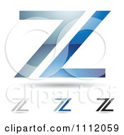Clipart Abstract Letter Z Icons With Shadows 1 Royalty Free Vector Illustration by cidepix