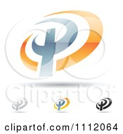 Clipart Abstract Letter P Icons With Shadows 5 Royalty Free Vector Illustration by cidepix #COLLC1112064-0145