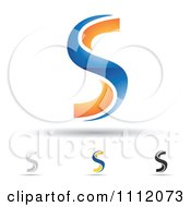 Clipart Abstract Letter S Icons With Shadows 3 Royalty Free Vector Illustration by cidepix