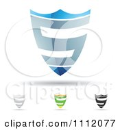 Clipart Abstract Letter S Icons With Shadows 9 Royalty Free Vector Illustration by cidepix #COLLC1112077-0145