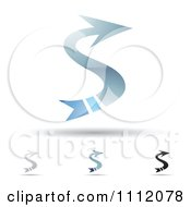 Clipart Abstract Letter S Icons With Shadows 8 Royalty Free Vector Illustration by cidepix