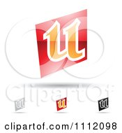 Clipart Abstract Letter U Icons With Shadows 2 Royalty Free Vector Illustration