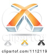 Clipart Abstract Letter X Icons With Shadows 5 Royalty Free Vector Illustration by cidepix