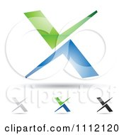 Clipart Abstract Letter X  X Letter Logo