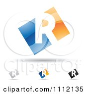 Clipart Abstract Letter R Icons With Shadows 2 Royalty Free Vector Illustration by cidepix