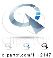 Clipart Abstract Letter Q Icons With Shadows 5 Royalty Free Vector Illustration by cidepix