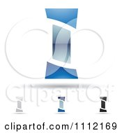Clipart Abstract Letter I Icons With Shadows 8 Royalty Free Vector Illustration by cidepix