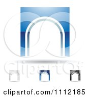 Clipart Abstract Letter N Icons With Shadows 9 Royalty Free Vector Illustration