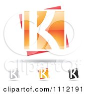 Clipart Abstract Letter K Icons With Shadows 5 Royalty Free Vector Illustration by cidepix