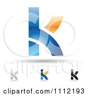 Clipart Abstract Letter K Icons With Shadows 2 Royalty Free Vector Illustration