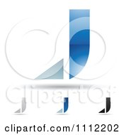 Clipart Abstract Letter J Icons With Shadows 6 Royalty Free Vector Illustration