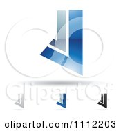 Clipart Abstract Letter J Icons With Shadows 4 Royalty Free Vector Illustration
