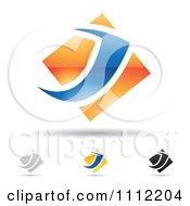 Clipart Abstract Letter J Icons With Shadows 5 Royalty Free Vector Illustration