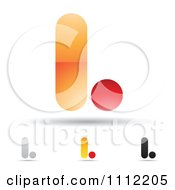 Clipart Abstract Letter L Icons With Shadows 8 Royalty Free Vector Illustration