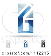 Clipart Abstract Letter G Icons With Shadows 8 Royalty Free Vector Illustration