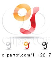 Clipart Abstract Letter G Icons With Shadows 6 Royalty Free Vector Illustration by cidepix