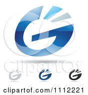 Clipart Abstract Letter G Icons With Shadows 1 Royalty Free Vector Illustration by cidepix