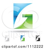 Clipart Abstract Letter G Icons With Shadows 2 Royalty Free Vector Illustration