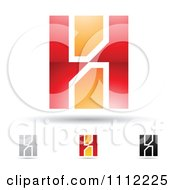 Clipart Abstract Letter H Icons With Shadows 7 Royalty Free Vector Illustration by cidepix