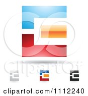 Clipart Abstract Letter E Icons With Shadows 1 Royalty Free Vector Illustration by cidepix