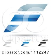 Clipart Abstract Letter F Icons With Shadows 4 Royalty Free Vector Illustration by cidepix #COLLC1112247-0145